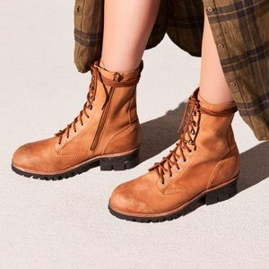 Free People x Jeffrey Campbell Lace-Up Boot 6 NEW